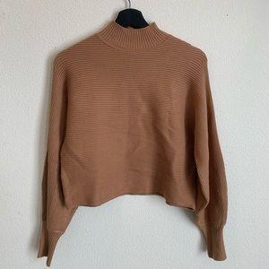 Zara: balloon sleeve mock neck sweater